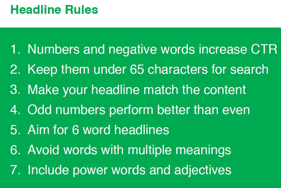 Pagrdindinės taisyklės gerai antraštei sukurti